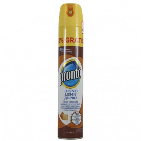 Pronto furniture polish spray 400 ml. Wood.