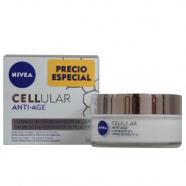 Nivea Cellular anti-edad crema hidratante cuidado de día 50 ml. Renovador de la piel.