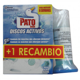 Pato WC discos activos Dispensador + Recambio 36 ml. + 36 ml.