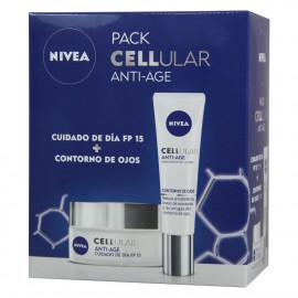 Nivea pack Cellular anti-age moisturizing cream day 50 ml. + Eye contour cream 15 ml.