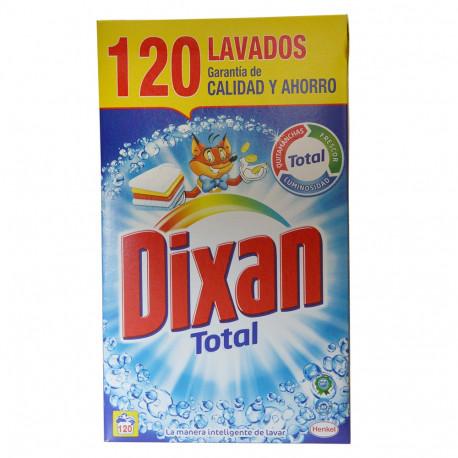 Dixan detergente polvo 120 dosis maleta.