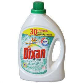 Dixan detergente gel 30 dosis 1,860 l. Total frescor.