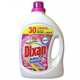 Dixan detergente Gel 30 dosis 1,860 l. Adiós al separar.