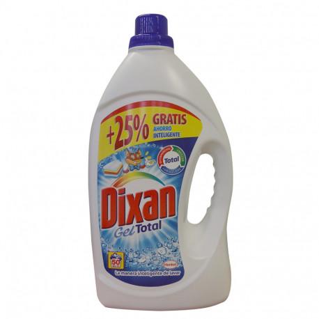 Dixan detergente Gel 50 dosis 3,100 l. Gel Azul Total.