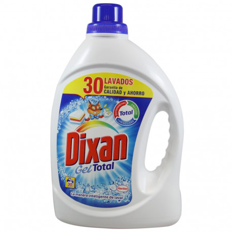 Dixan detergente Gel 30 dosis 1,860 l. Gel Azul.