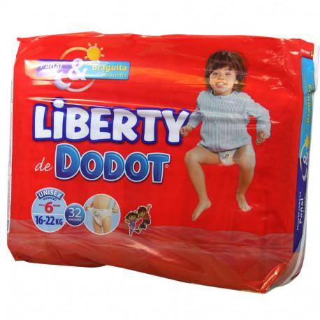 Dodot Liberty pañales 32 u. talla 6.
