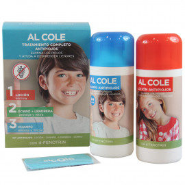Nelly pack lotion treating head lice 200 ml. + shampoo 200 ml. + comb and hat. Al cole.