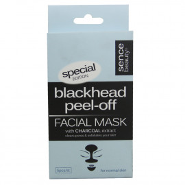 Sence beauty face mask 5 u. Charcoal extract normal skin.