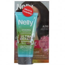 Nelly Creme intense dye. 4/00 Medium Brown + free 100 ml. Shampoo.