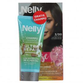 Nelly Creme intense dye. 3/00 dark brown + free 100 ml. Shampoo.
