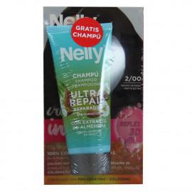 Nelly Creme intense dye. 2/00 deep black + free 100 ml. Shampoo.