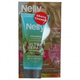 Nelly Creme intense dye. 10/08 blonde hair + + free 100 ml. Shampoo.