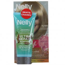 Nelly Creme intense dye. 11/00 blond hair + + free 100 ml. Shampoo.