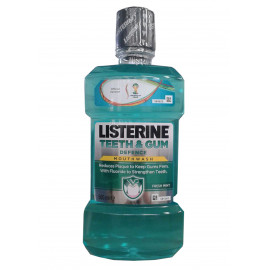 Listerine antiséptico bucal 500 ml. Protección dientes y encías.