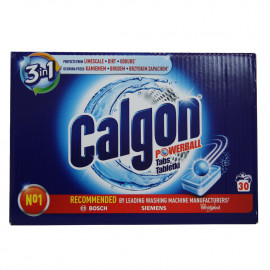 Calgon tablets powerball 390 gr. 2 en 1 - 30 u.