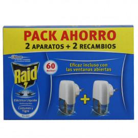 Raid aparato eléctrico con recambio 30 noches pack de 2 u.