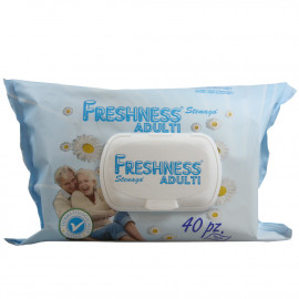 Freshness toallitas de papel higiénico adulto 40 u. Pop-up.