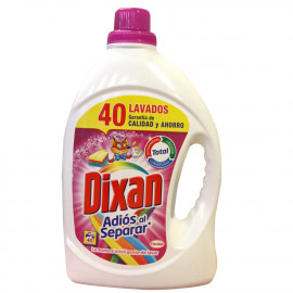 Dixan detergente Gel 40 dosis 2,480 l. Adiós al Separar.