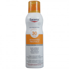 Eucerin Sun Protection spray solar 200 ml. Factor 30 sensitive skin.