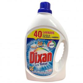 Dixan detergente Gel 40 dosis 2,480 l. Gel Azul Total.