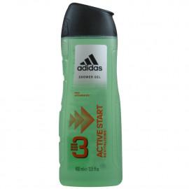 Adidas gel 400 ml. Active Start Revitalizante 3 en 1 cabello, cuerpo y cara.