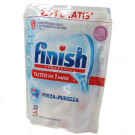 Finish lavavajillas powerball fuerza y pureza 22+5 gratis.