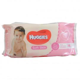 Huggies toallitas 56 u. Piel suave.