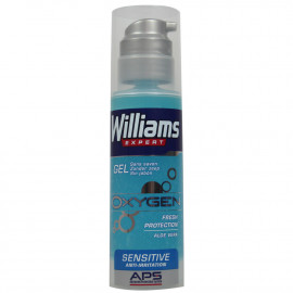 Williams Oxygen shaving gel 150 ml. Sensible skin Aloe Vera.