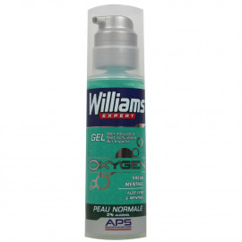Williams Oxygen shaving gel 150 ml. Norma skin Aloe Vera & Mentol.