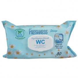 Freshness toallitas de papel higiénico 80 u. Pop-up.