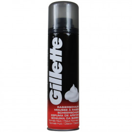 Gillette espuma de afeitar 200 ml. Piel normal.