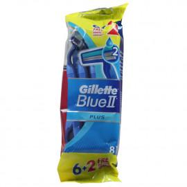 Gillette Blue II plus desechable 6+2 gratis.